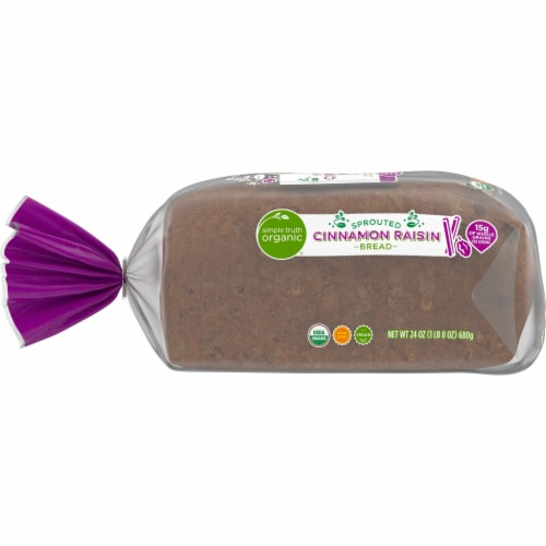 Simple Truth Organic® Sprouted Cinnamon Raisin Bread Perspective: left