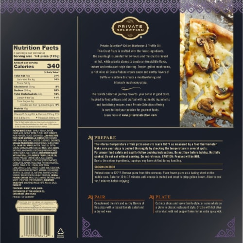 Private Selection® Grilled Mushroom & Truffle Oil Thin Crust Frozen Pizza Perspective: left