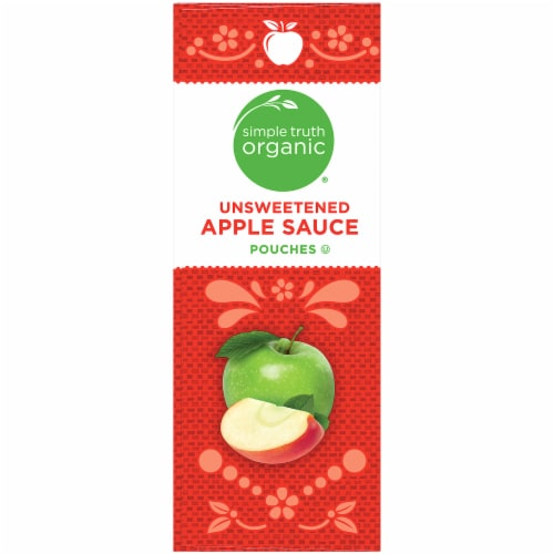 Simple Truth Organic® Unsweetened Applesauce Pouches Perspective: left