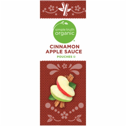 Simple Truth Organic® Cinnamon Applesauce Pouches Perspective: left