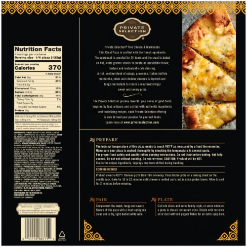 Private Selection® Five Cheese & Marmalade Thin Crust Frozen Pizza Perspective: left
