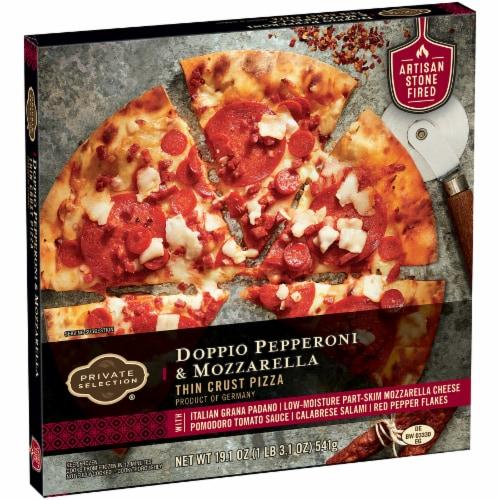 Private Selection® Doppio Pepperoni & Mozzarella Thin Crust Pizza Perspective: left