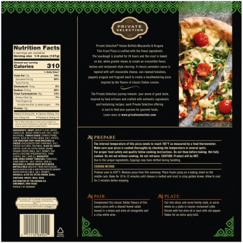 Private Selection® Italian Buffalo Mozzarella & Arugula Thin Crust Pizza Perspective: left