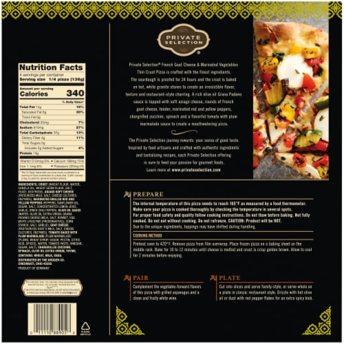 Private Selection® French Goat Cheese & Marinated Vegetables Thin Crust Pizza Perspective: left