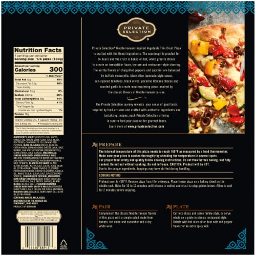 Private Selection® Mediterranean Inspired Vegetable Thin Crust Pizza Perspective: left