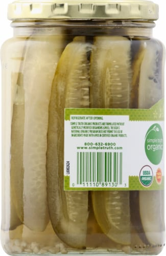 Simple Truth Organic™ Kosher Dill Pickle Spears Perspective: left