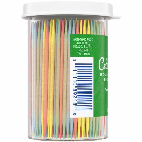 Kroger®  Celebration Round Wooden Colored Toothpicks Perspective: left