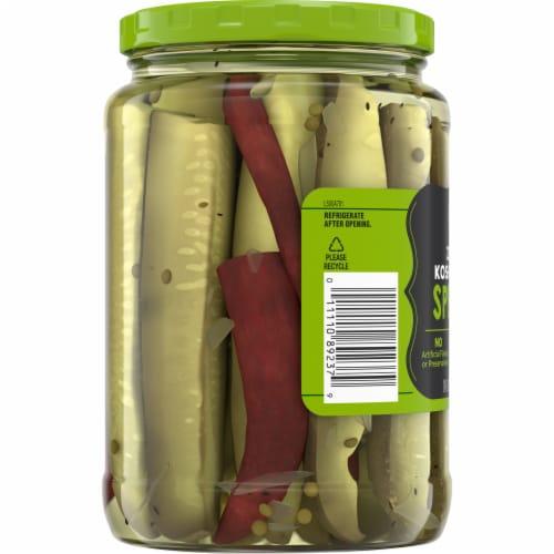 Kroger® Zesty Kosher Dill Pickle Spears Perspective: left