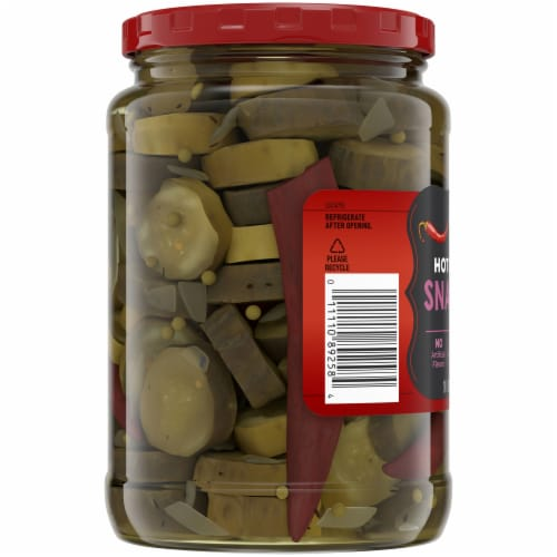Kroger® Hot & Sweet Snackers Pickles Perspective: left