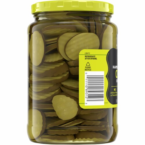 Kroger® Hamburger Dill Oval Cut Pickle Chips Perspective: left