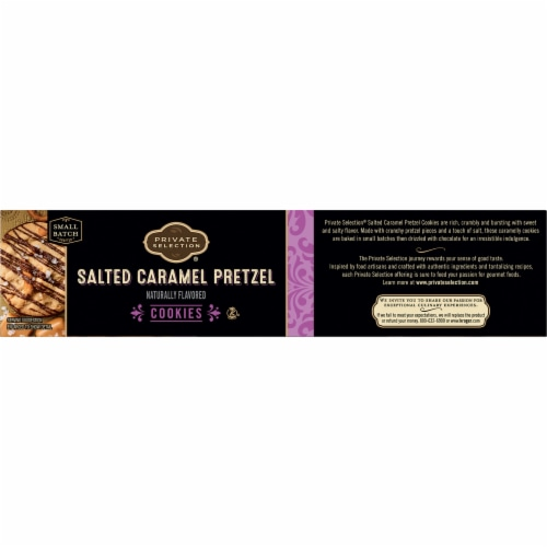 Private Selection® Salted Caramel Pretzel Cookies Perspective: left