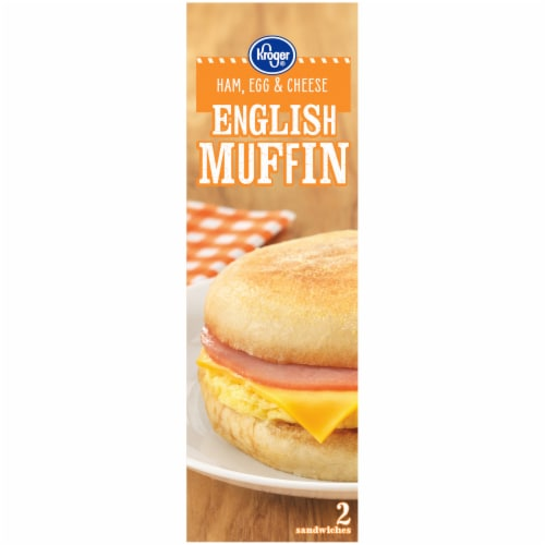 Kroger® Ham Egg & Cheese English Muffin Sandwiches Perspective: left