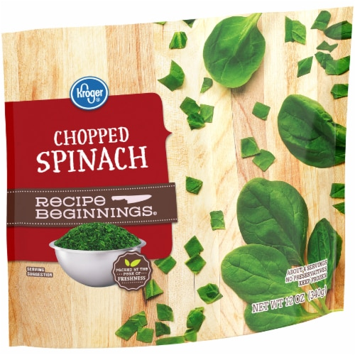 Kroger® Recipe Beginnings Chopped Spinach Perspective: left