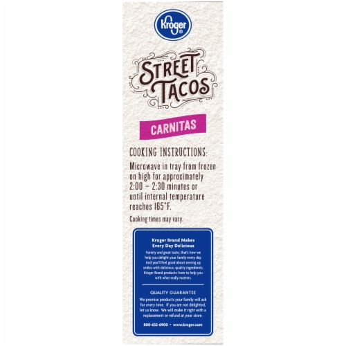 Kroger® Carnitas Seasoned Shredded Pork Street Tacos Perspective: left