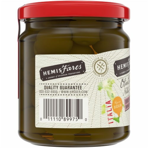 HemisFares™ Green Castelvetrano Whole Olives Perspective: left