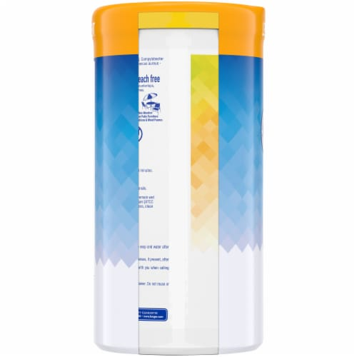 Kroger® Lemon & Fresh Scent Disinfecting Wipes Perspective: left