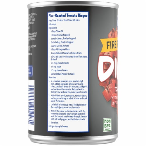 Kroger® Fire-Roasted Diced Tomatoes Perspective: left