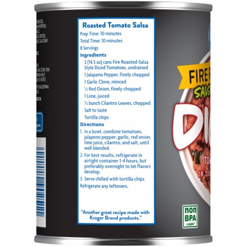 Kroger® Salsa Style Fire Roasted Diced Tomatoes Perspective: left