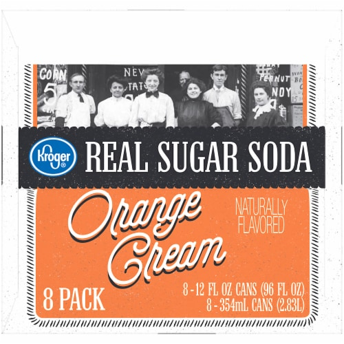 Kroger® Orange Cream Real Sugar Soda Perspective: left