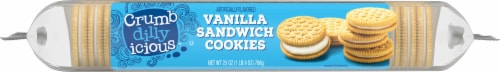 Crumbdillyicious™ Vanilla Sandwich Cookies Perspective: left