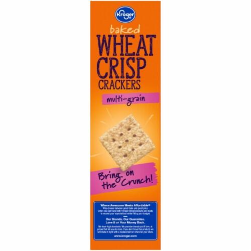 Kroger® Multi-Grain Baked Wheat Crisp Crackers Perspective: left