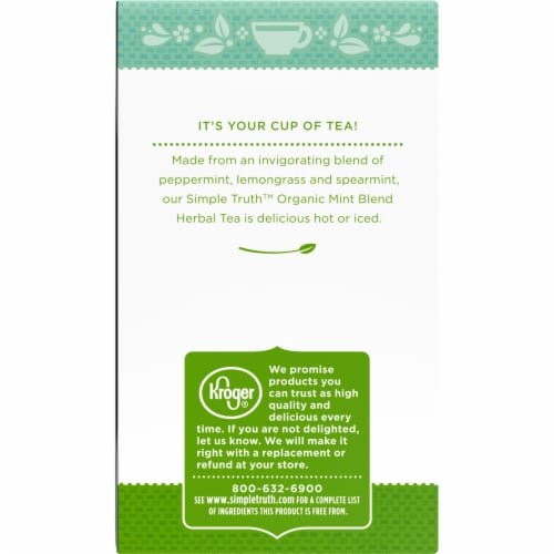 Simple Truth Organic™ Mint Blend Herbal Tea Bags Perspective: left