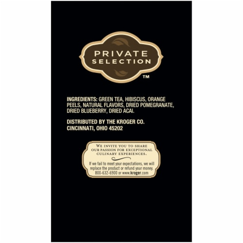 Private Selection™ Pomegranate Blueberry & Acai Green Tea Bags Perspective: left
