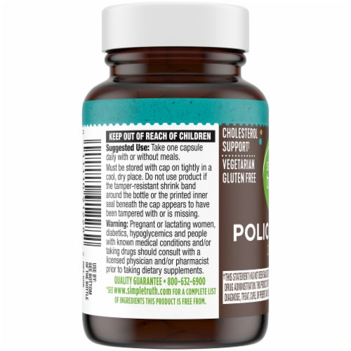 Simple Truth™ Policosanol Capsules 20mg Perspective: left