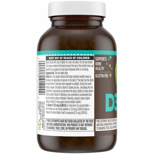 Simple Truth™ Vitamin D3 Tablets 5000IU Perspective: left