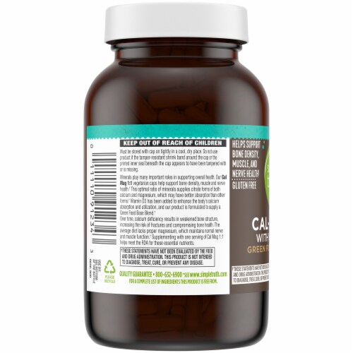 Simple Truth® Cal-Mag 1:1 with Vitamin D3 Capsules Perspective: left