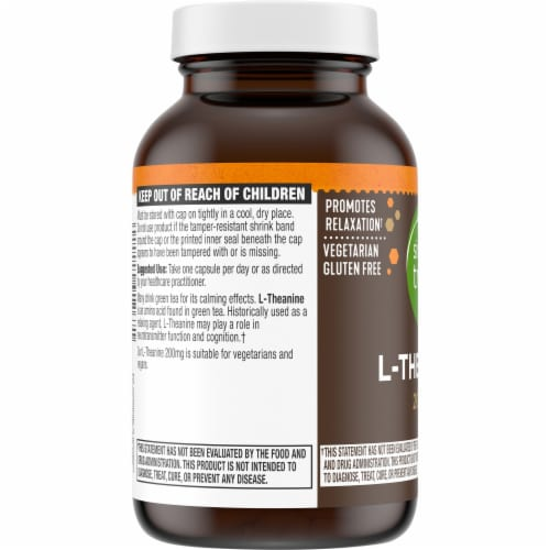 Simple Truth® L-Theanine Capsules 200mg Perspective: left