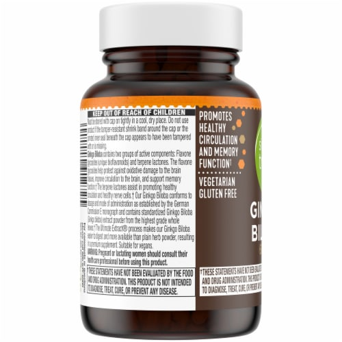 Simple Truth® Ginkgo Biloba Capsules 60mg Perspective: left