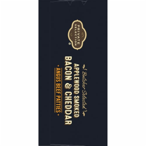 Private Selection® Applewood Smoked Bacon & Cheddar Angus Beef Patties Perspective: left