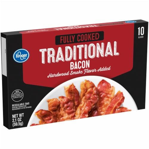 Kroger® Fully Cooked Hardwood Smoke Flavor Traditional Bacon Perspective: left