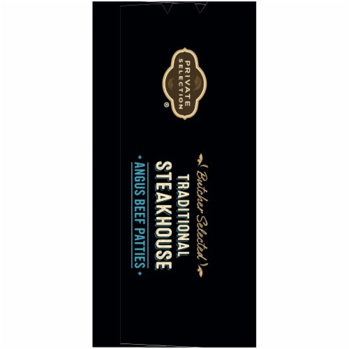 Private Selection® Traditional Steakhouse Angus Beef Patties Perspective: left