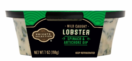Qfc Private Selection Lobster Spinach Artichoke Dip 7 Oz