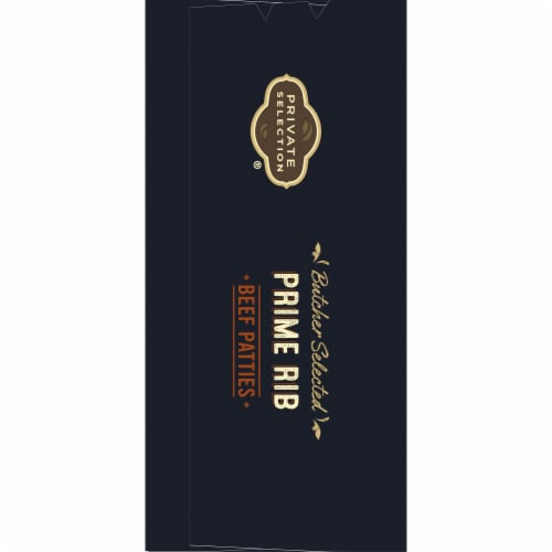 Private Selection® Butcher Selected Prime Rib Beef Patties Perspective: left