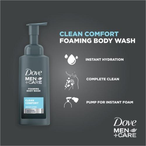 Dove Men + Care Clean Comfort Nutrium Moisture Foaming Body Wash Perspective: left