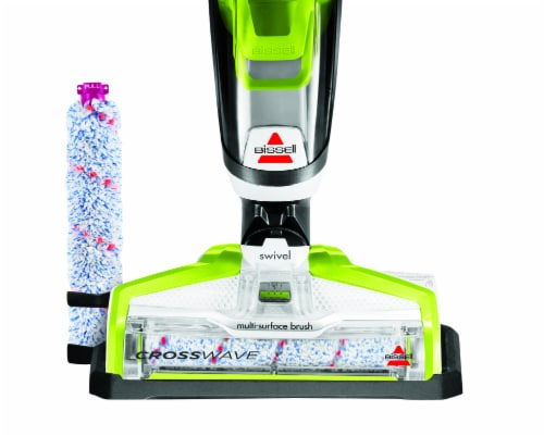 Bissell® CrossWave® Green & Black All-in-One Multi-Surface Wet Dry Vacuum Perspective: left