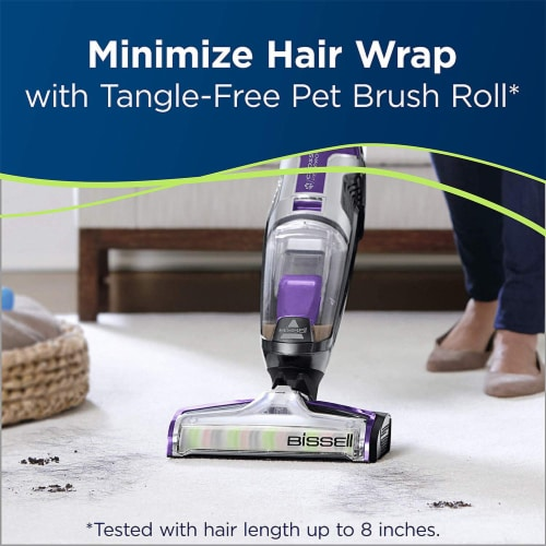 Bissell 2306A CrossWave Pet Pro Multi-Surface Wet Dry Vacuum Cleaner, Purple Perspective: left