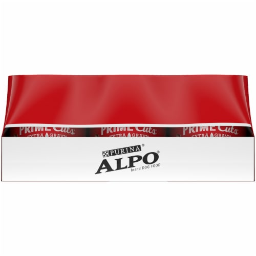 Purina Alpo Prime Cuts Beef and Lamb & Rice Wet Adult Dog Food Variety Pack Perspective: left