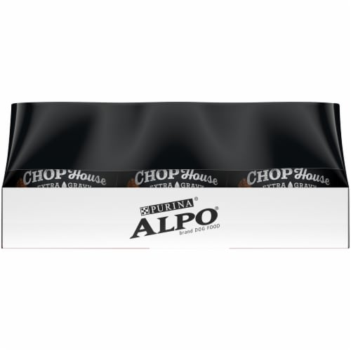 Purina Alpo Chop House Steak and Chicken in Gourmet Gravy Wet Adult Dog Food Variety Pack Perspective: left