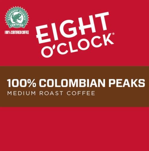 Eight O'Clock 100% Colombian Peaks Medium Roast K-Cup Pods Perspective: left