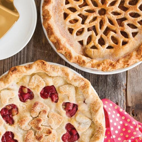 Nordic Ware Lattice & Hearts Pie Top Cutter Perspective: left