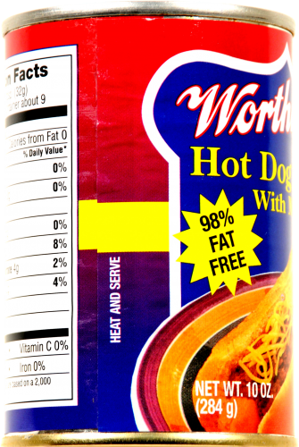 Worthmore Hot Dog Chili with Meat Perspective: left