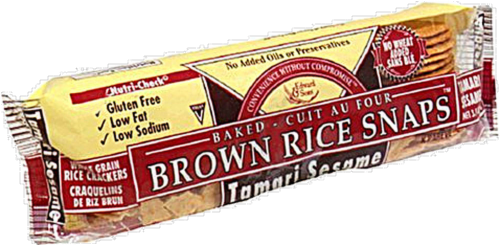 Edward & Sons Tamari Sesame Brown Rice Snaps Perspective: left