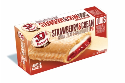 JJ's Bakery Lightly Glazed Strawberry & Cream Pie Perspective: left