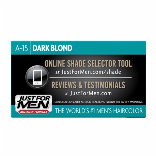 Just For Men AutoStop Comb-In A-15 Dark Blonde Hair Color Perspective: left