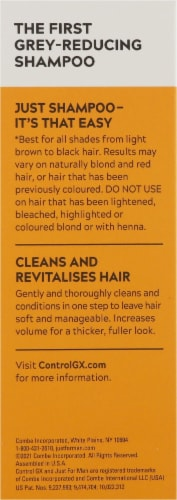 Just for Men Control GX Gray Reducing 2-in-1 Shampoo and Conditioner Perspective: left