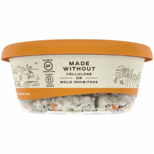 Crumbled Apricot & Thyme Goat Cheese Perspective: left